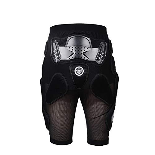 METTE Motorrad-Schutzhose, Sport Motocross MTB Racing Körperschutz Schutzbeinschutz Anti-Fall-Atmungsaktive Shorts, Schwarz, Unisex - Herren Pro Bike Short