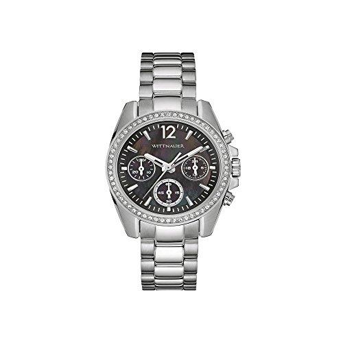 Wittnauer Men's 50mm Black Steel Bracelet & Case Quartz Chronograph Watch...