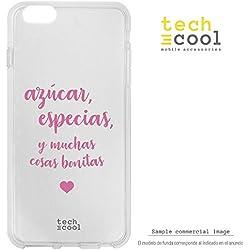 Funnytech® Coque pour Iphone 5 / 5S / Se l Housse TPU Silicone [Design Exclusif, Impression Haute Définition] [Couleurs Très Vives] [Azucar, especias y muchas cosas transp]