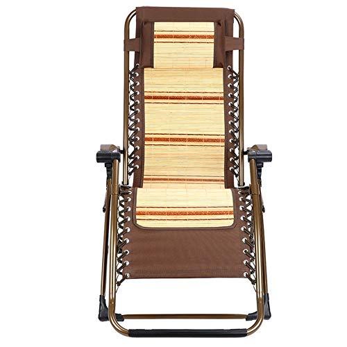 XUE Schaukelstühle Haushalt Bambus Stuhl Gepolsterte Liege Klappstuhl Mittagspause für den Sommer Begleiten Balkon Freizeit Stuhl Strandkorb Natürliche Bambus Seide Stoff -