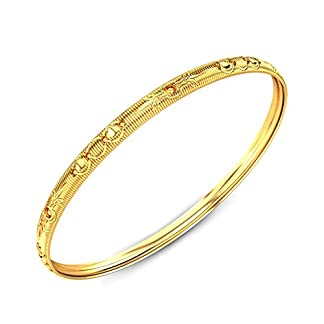 Candere By Kalyan Jewellers Contemporary Collection 22k Yellow Gold Ruchi Bangle