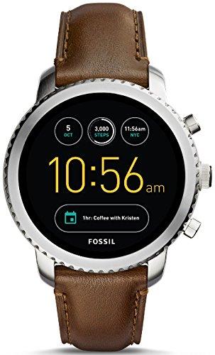 Fossil-Herren-Armbanduhr-Q-Explorist-Smartwatch-Leder-FTW4003