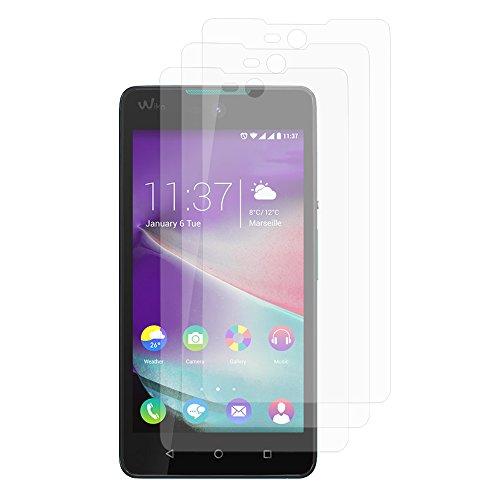 VComp-Shop® 3x Transparente Bildschirmschutzfolie für Wiko Rainbow Lite 4G - TRANSPARENT