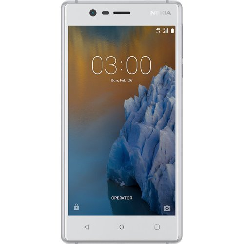 Nokia 3 Smartphone, 16 GB, Dual SIM, Bianco