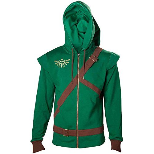 Zelda Sweat-Shirt à Capuche Link Cosplay Costume Triforce Shield Nouveau Zelda
