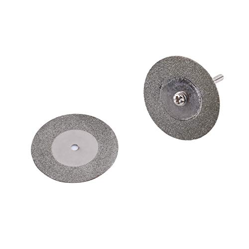 Diamant-Sägeblatt, 10X Kohlenstoffstahl Mini-Diamant-Sägeblatt Trennscheibe Drehscheibenschleifen + 2 Dorn Geeignet für den Einsatz in Zimmerei und Handwerk, Langlebig und Fest(35mm)