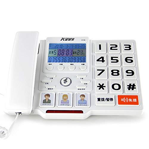 Old-fashioned Telefon Festnetz Festnetz Kinder großen Telefon großen Bildschirm großen Wort Schlüssel Bericht