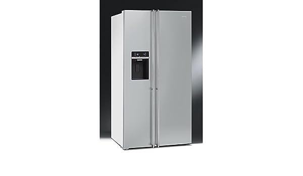 Smeg Kühlschrank Doppeltür : Smeg u kühlschrank side by side fa bi finish türen edelstahl