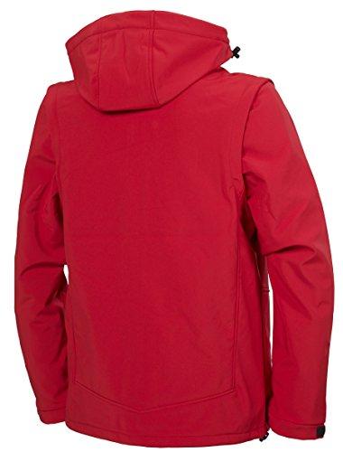Fifty Five Herren Softshell Jacke Funktionsjacke - Power - Outdoorjacke mit Kapuze Winddicht Wasserfest Atmungsaktiv Rot