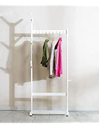 GUOWEI Perchero Soporte de piso Abedul Bolsa Paraguas Organizador colgante con el estante de los zapatos, 3 colores disponibles?, 66 * 32 * 172 cm ( Color : Blanco )