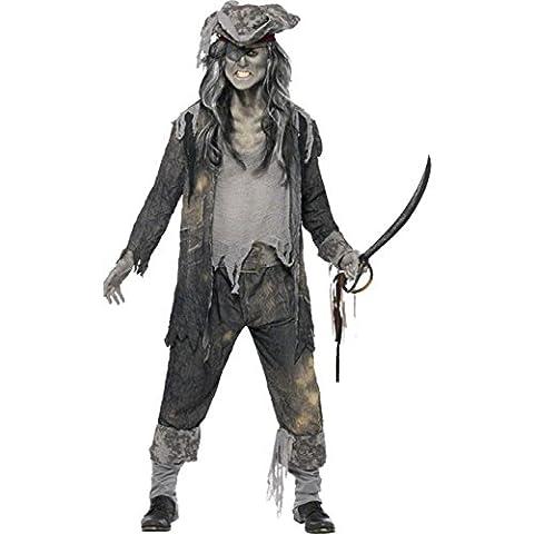 Smiffys, Herren Geister-Pirat Kostüm, Mantel, Hose und Hut, Größe: L, 21331