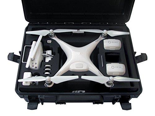Profi Transportkoffer, Koffer für DJI Phantom 4 Pro / Pro Plus Kopter mit 6 Akkus + Zubehör, wasserdichter Outdoor Case, Hardcase