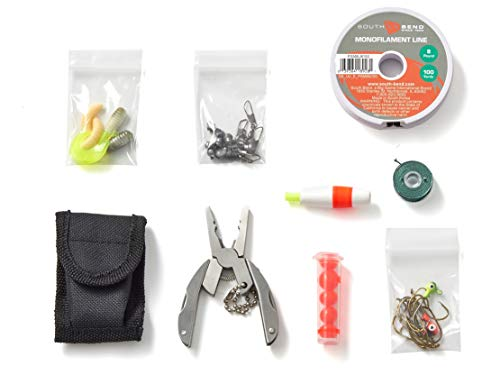 OFF GRID TOOLS Mini Fishing B.O.S.S Bug Out Bag Survival Angelset 45-teiliges Angelset