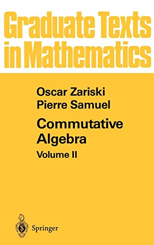 Commutative Algebra II (Graduate Texts in Mathematics (29), Band 29)