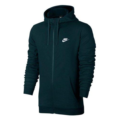 Nike 804391-328 Sweat à Capuche entièrement zippé Homme, Jungle Profonde/Blanc, FR : S (Taille Fabricant : S)