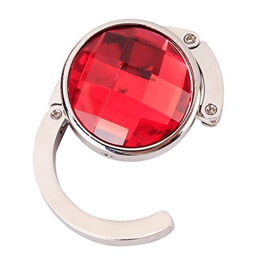 Handtaschenhalter Runde Klapp Tasche Handtasche Hanger Haken Halter (Rot) (Jeweled Damen Handtasche)