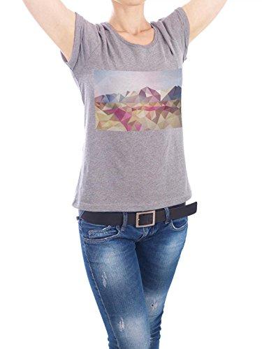 "Design T-Shirt Frauen Earth Positive ""Alaska Origami"" - stylisches Shirt Motiv von Julia Bruch Grau"
