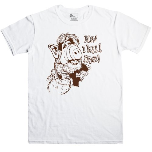 Alf T Shirt - I Kill Me - White - Medium