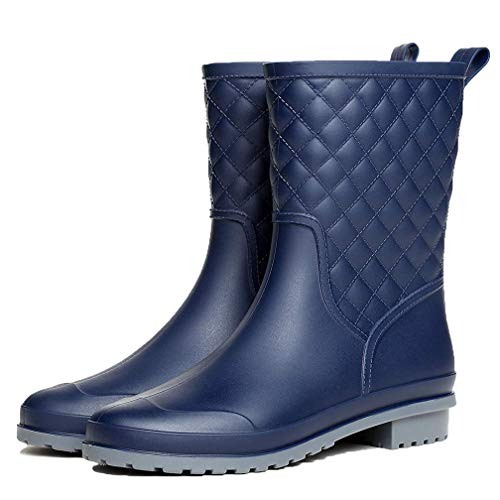 Hishoes Botas de Agua Mujer Impermeables Botas de Lluvia Bota de Goma