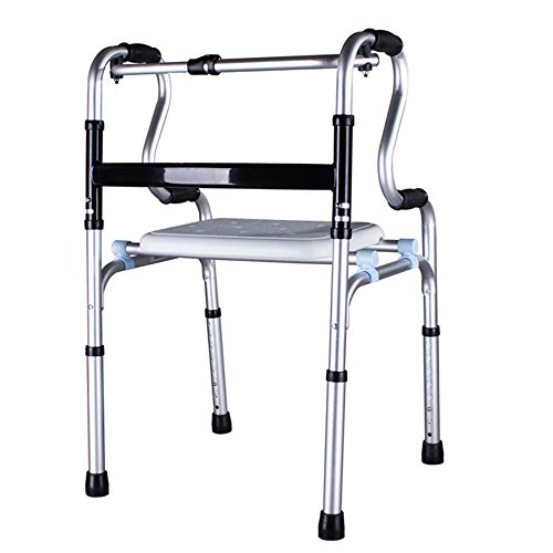 XIHAA Ältere Menschen Walker Höhenverstellbar Klapp Aluminiumlegierung Pulle Behinderte Person Walking Rehabilitation Ausrüstung Bad Bad Stuhl (Ohne Rad) (4-rad Drive Medical-rollator)