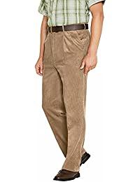 Pantalones De Pana Algodón Con Una Alta Pretina Ajustable Para Hombre