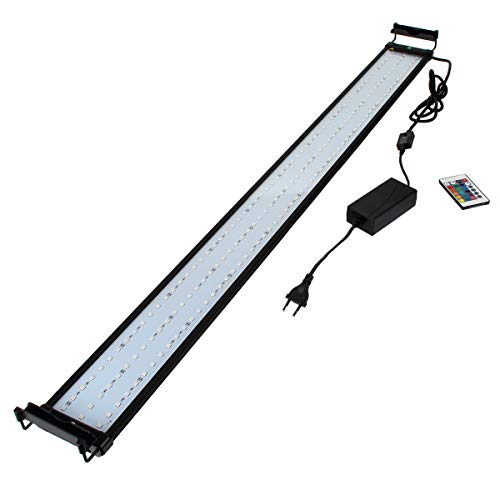 GreenSun LED Lighting 32W RGB LED Aquarium Beleuchtung Aufsetzleuchte Aquarium Lampe Aquariumleuchte Einstellbar für 115-135cm Aquarium