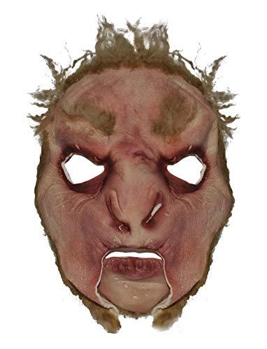 Karnevalsbud - Kostüm Accessoires Zubehör Latex Horror Maske Big Foot mit Haaren, perfekt für Halloween Karneval und Fasching, ()