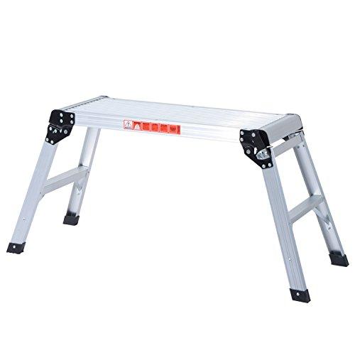 Marchepied escabeau aluminium 109 L x 40 l x 50 H cm pliant antidérapant aluminium