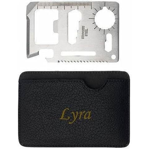 Herramienta multifunción de bolsillo con estuche con nombre grabado: Lyra