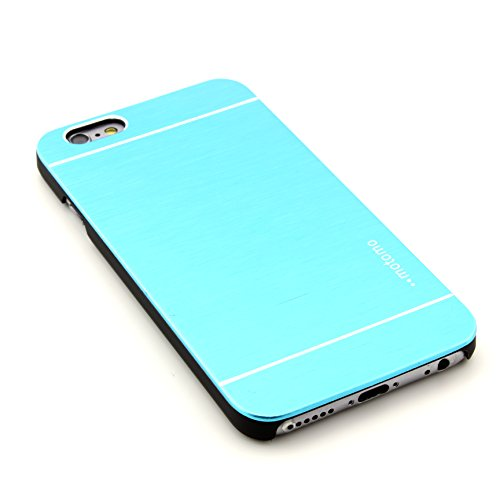 Smartphone Alu Hardcase Handy Hülle iphone 6 Rückseite Cover gebürstet Metall Bumper Rückschale Schutz Zubehör ScorpioCover rot blau