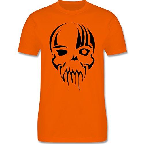 Piraten & Totenkopf - Totenkopf - Herren Premium T-Shirt Orange