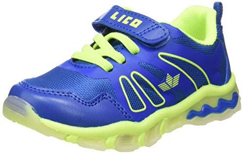 Lico Jungen Fun VS Blinky Sneaker, Blau (Blau/Lemon Blau/Lemon), 26 EU