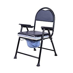 GLJY Kommoden-Stuhl, Der Beweglichen Beweglichen Duschentoilettensitz-Bad-Schemel-Töpfchen-Stuhl Faltet