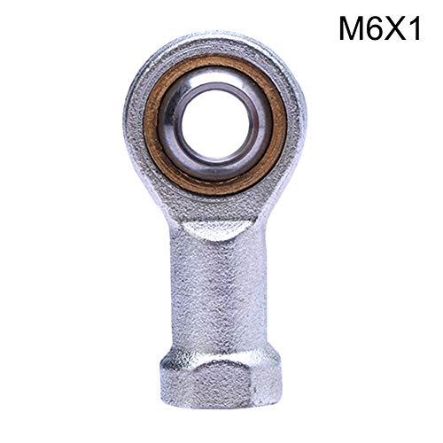 Wildlead Cylindre Accessoires Main Droite connecteur Femelle Filetage métrique de biellette Joint Roulement, M6*1.0