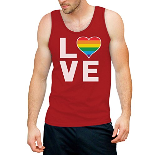 32598261e922ea CSD Shirt LGBT Tank Top Homosexuell Gay Pride Regenbogen Herz in Love Tank  Top Small