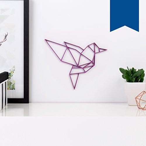 KLEINLAUT 3D-Origamis aus Holz - Wähle Ein Motiv & Farbe - Vogel - 10 x 9,3 cm (S) - Schwarz
