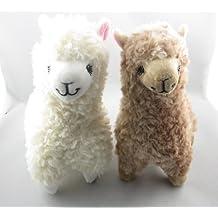 Zantec 2pcs Cute Alpaca Plush Toy Camel Cream Llama Animal de peluche muñeca de los niños