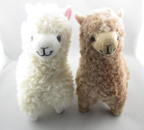 Zantec 2pcs Cute Alpaca Plush Toy Camel Cream Llama Animal de peluche muñeca de los niños 23cm de altura