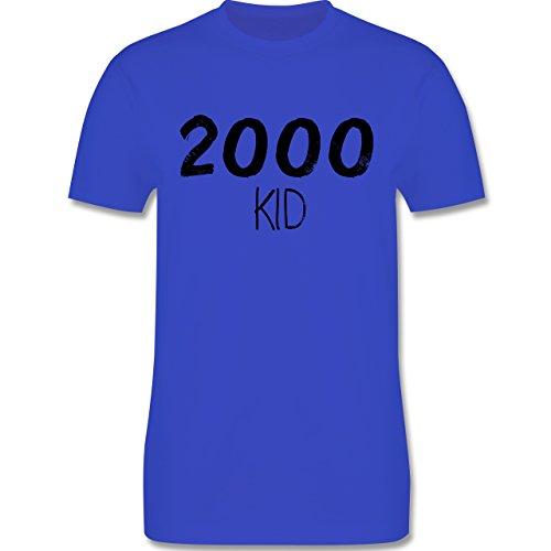 Shirtracer Geburtstag - 2000 Kid - Herren T-Shirt Rundhals Royalblau
