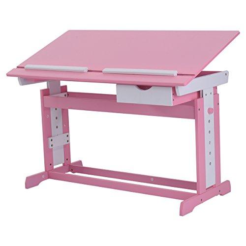 COSTWAY Kinderschreibtisch Kindermöbel Kinderzimmer Kindertisch Schreibtisch Schnülerschreibtisch Computertisch Bürotisch...