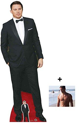 BundleZ-4-FanZ Channing Tatum Schwarze Krawatte Lebensgrosse und klein Pappfiguren/Stehplatzinhaber/Aufsteller - Enthält 8X10 (25X20Cm) starfoto
