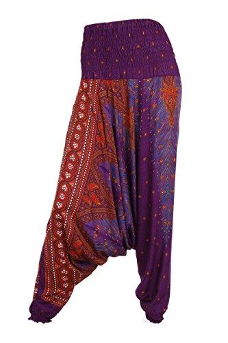 Aladdinhose–Harems-/ Hippie-Hose - Peacock 1 Purple