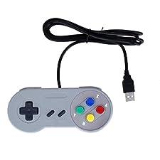 USB Retro Mando Clásico Gamepad Joypad para PC / Mac Juegos de SNES de Nintendo