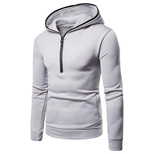 Herren Pullover,TWBB Tasche Einfarbig Herbst Winter Kapuzenpullover Hoodied Sweatshirt Lange Ärmel Mantel Outwear
