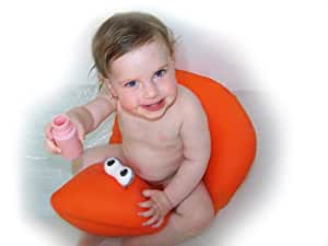 Pomfitis LTD Shibaba Infanzia Bebè Bambino Cuscino Vasca da Bagno Sede Ruota Vaschette Bagnetto, Rosa