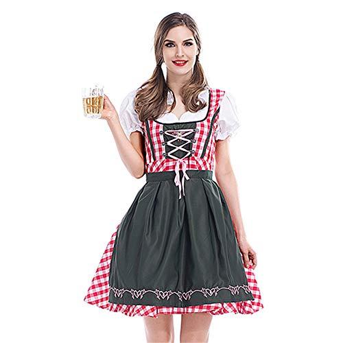 GIFT ZHIZHUXIA Damen Oktoberfest Bayerisches Bierfest Mädchen Plus Size German Maid Fancy Dress Costume Weihnachtsfeier Kleid Requisiten (Farbe : Photo Color, größe : ()