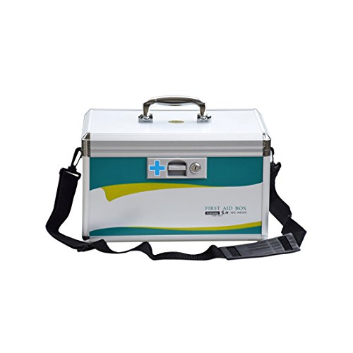Likeluk 9 Zoll Erste Hilfe Koffer Medikamentenbox Medizin-Box mit Tragegriff, 24 * 17 * 23cm