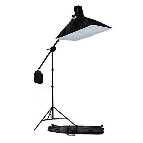 SAILUN® Softbox Studioleuchte mit Galgenstativ Lampenstativ, 160W Tageslicht Fotolampe, 50 x 72 cm mit 2m Lampenstativ Tripod(Softbox mit Galgenstativ)