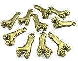 beadsvision 40 Charms Rollschuhe Rollerblades 22mm Anhänger Farbe Bronze #S328