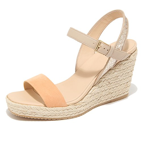 9838M sandalo zeppa HOGAN scarpe donna sandals shoes woman albicocca albicocca/beige